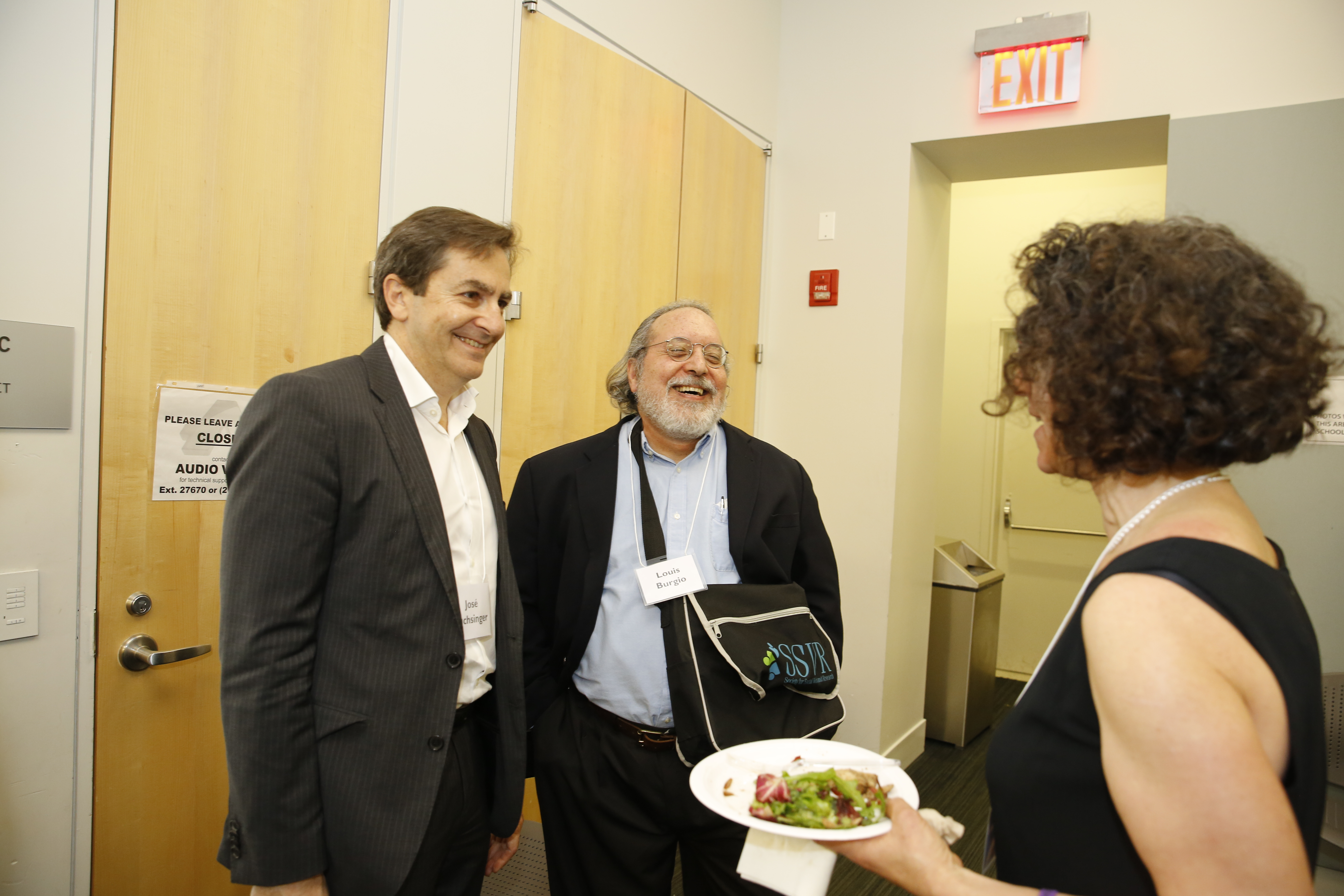 Drs. José Luchsinger and Louis Burgio with Dr. Caroline Gelman of Silberman Aging.